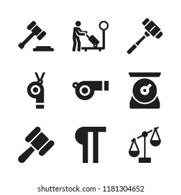 judge icon. 9 judge vector icons set. paragraph, gavel and whistle icons for web and design about judge theme
