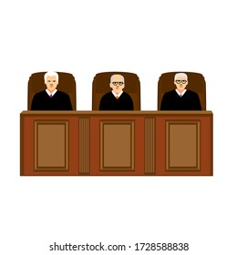 judge illustration vector icon sitting on chair of court