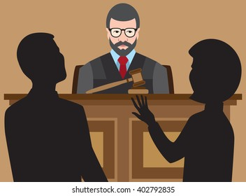 Judge listens as lawyers argue their cases