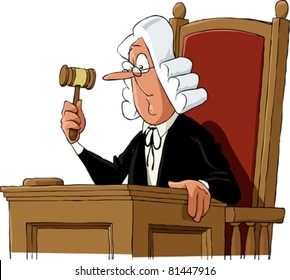 A judge on a white background, vector