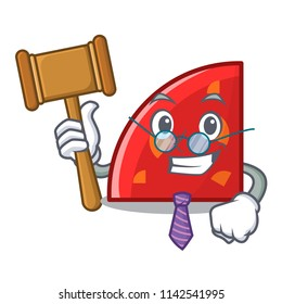 Judge quadrant mascot cartoon style