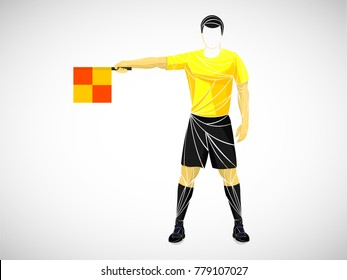 judge, referee soccer yellow vector