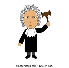 The judge vector on white background