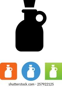 Jug with cork icon