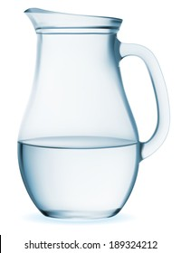 Jug glass with water - Illustration EPS-10