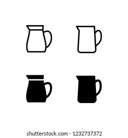 Jug Icon Logo Vector Symbol. Pitcher Icon