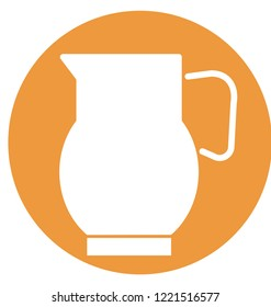 Jug Isolated Vector icon which can be easily modified or edit