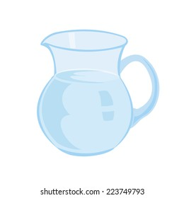 Jug with milk isolated on a white background vector illustration