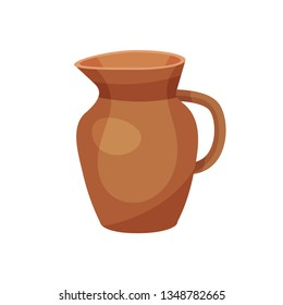 Jug on white background. Happy Hanukkah concept.