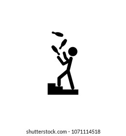 juggler icon. Element of theater and art illustration. Premium quality graphic design icon. Signs and symbols collection icon for websites, web design, mobile app on white background
