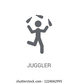 Juggler icon. Trendy Juggler logo concept on white background from Circus collection. Suitable for use on web apps, mobile apps and print media.