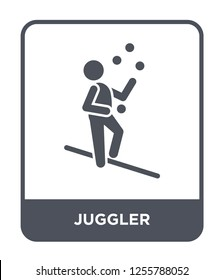 juggler icon vector on white background, juggler trendy filled icons from Magic collection, juggler simple element illustration