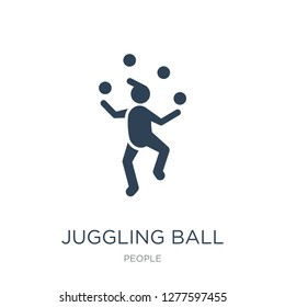 juggling ball icon vector on white background, juggling ball trendy filled icons from People collection, juggling ball vector illustration