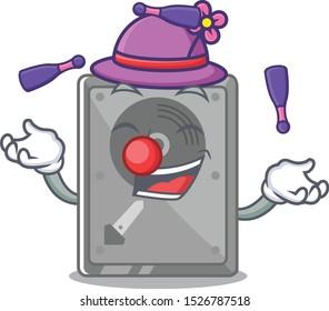 Juggling internal hard drive with cartoon shape