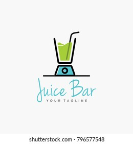 juice bar logo design inspiration isolated on white background