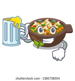 With juice fried minestrone in the cup character