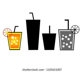 Juice Glass Illustartion Vector