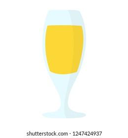 juice icon. Flat illustration of vector fresh orange juice. tropical cocktail isolated on white background. drinks sign symbol