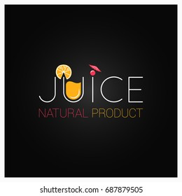 juice logo design background
