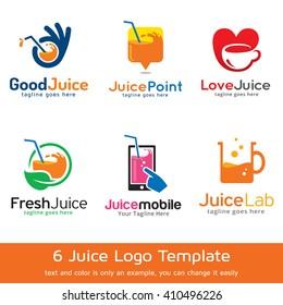 Juice Logo Template Design Vector