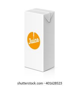 Juice or milk package mock up, 200ml. Vector illustration.