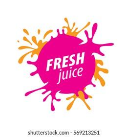 juice splash vector sign