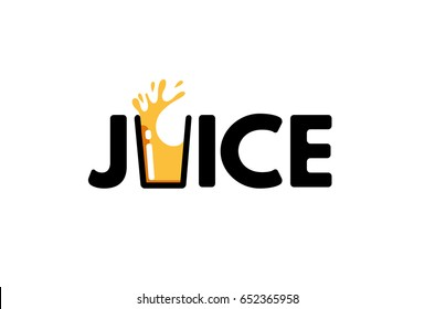 Juice Typography Letter Logo Design Illustration