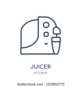 Juicer icon. Juicer linear symbol design from Kitchen collection. Simple outline element vector illustration on white background