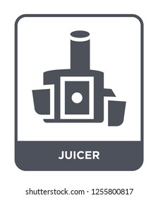 juicer icon vector on white background, juicer trendy filled icons from Kitchen collection, juicer simple element illustration
