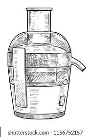 Juicer illustration, drawing, engraving, ink, line art, vector