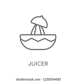 Juicer linear icon. Modern outline Juicer logo concept on white background from kitchen collection. Suitable for use on web apps, mobile apps and print media.