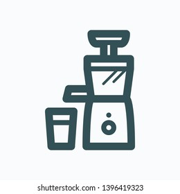 Juicer machine isolated icon, juice extractor, centrifugal juicer outline vector icon
