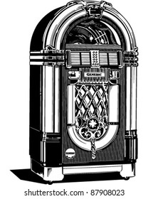 Jukebox 2 - Retro Clipart Illustration