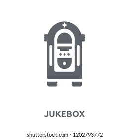Jukebox icon. Jukebox design concept from Birthday and Party collection. Simple element vector illustration on white background.