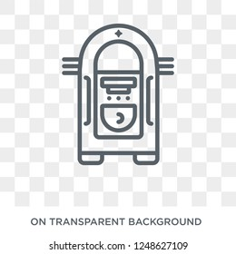Jukebox icon. Jukebox design concept from Birthday and Party collection. Simple element vector illustration on transparent background.