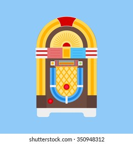 Jukebox icon vector. Flat icon isolated on the white background. Vector illustration.