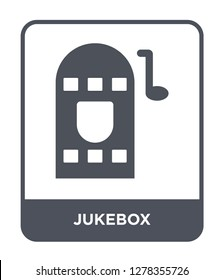 jukebox icon vector on white background, jukebox trendy filled icons from Birthday party and wedding collection, jukebox vector illustration