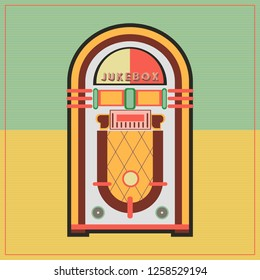 Jukebox Illustration Retro Style