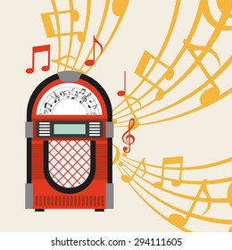 jukebox poster design, vector illustration eps10 graphic