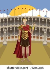 julius caesar great roman emperor and general in rome coliseum