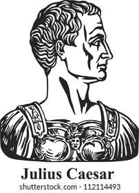 Julius Caesar roman general and statesman.