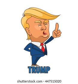 Image of: Stephen Colbert Character Portrait Of Donald Trump Giving Speech On White Ebay Donald Trump Cartoon Images Stock Photos Vectors Shutterstock