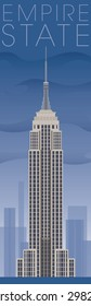 July 20, 2015: Vector Illustration of the Empire State Building, located in New York City, NY.