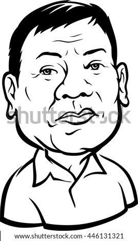 July 22016 Caricature 16th President Philippines Stock Vector