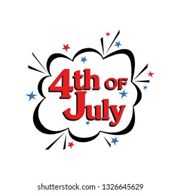 July 4 icon vector symbol isolated. Vector illustration. Vector icon illustration isolated on white background.