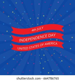 July 4 Independence Day in the United States. Vector illustration.