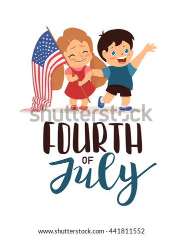 10f7f4274 July 4 US Independence Day Happy Stock Vector (Royalty Free ...