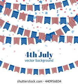 9220f484f92 Independence Day USA. American Independence Day flags design. A template  background