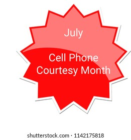 July - Cell Phone Courtesy Month Label