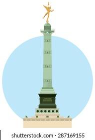July Column located on the Place de la Bastille